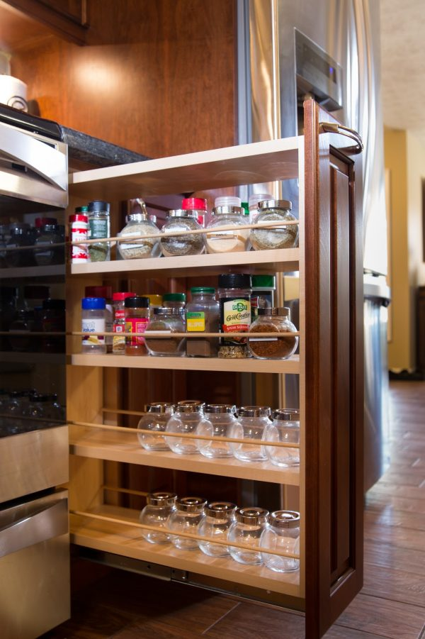 Explore Modern Kitchen Cabinets With 4 Tiers Light Walnut Wood Medium