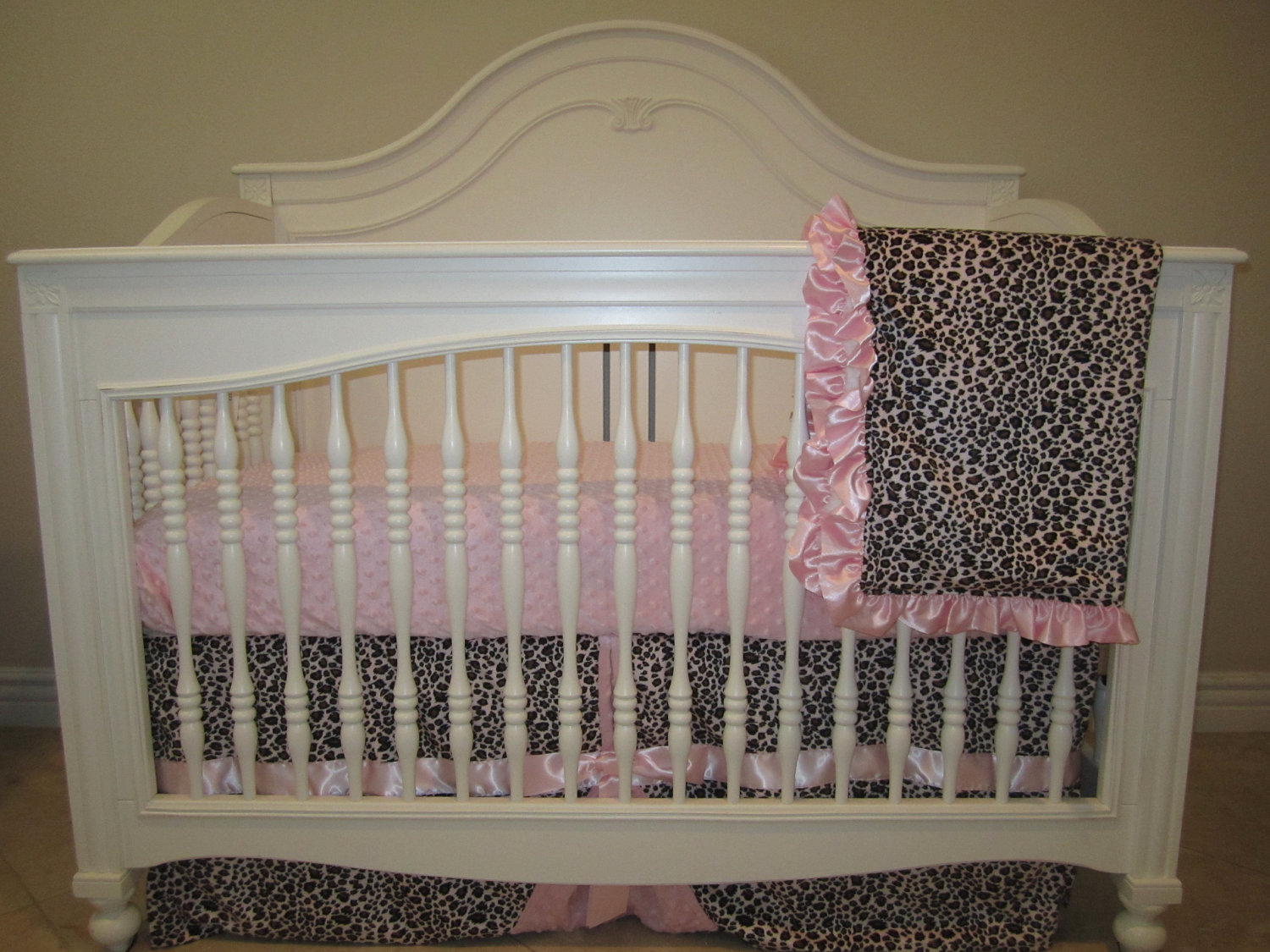 explore pink leopard baby bedding set 3 piece crib bedding setno