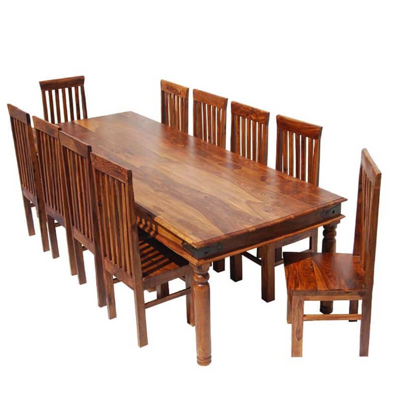 explore rustic lincoln study large dining room table chair set for