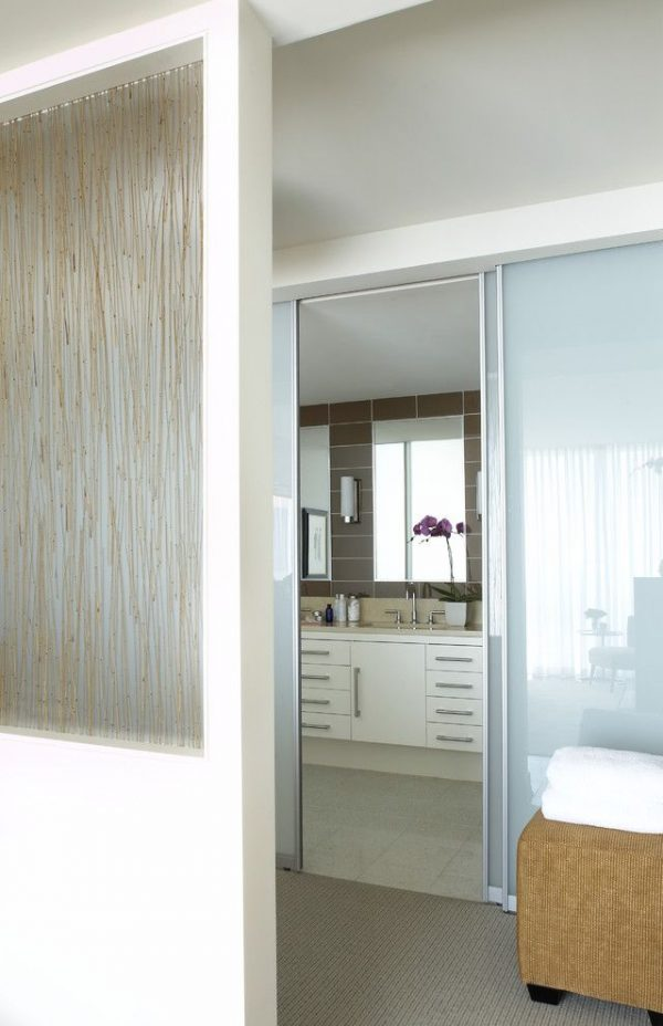 Explore Sidelight Glass Panels For Modern Bathroom And Neutral Medium
