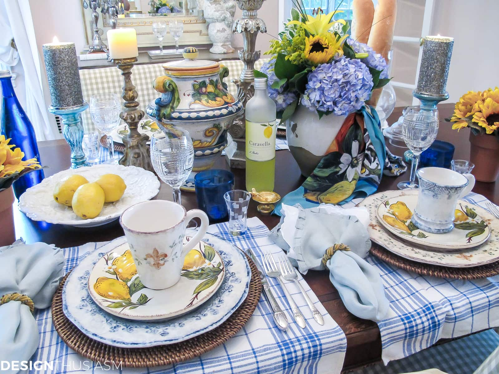 explore table decor amalfi inspired italian pottery tablescape
