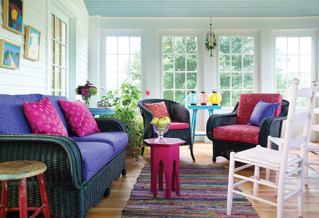 explore using primary colors to decorate cottages medium