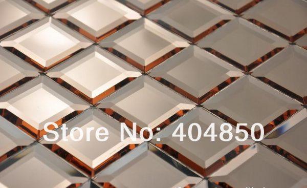 Fresh 12x12 Inch Colorful Diamond Faceted Home Decor Backsplash Medium