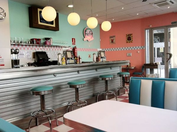 fresh 1950s decor1950s style american diner in valencia medium