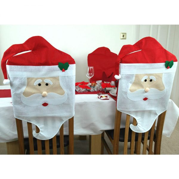 fresh 2 x santa dining chair covers father christmas decorations medium
