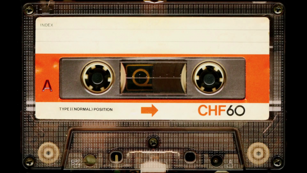 Fresh Audio Cassette Tape In Use Sound Recording In The Tape Medium