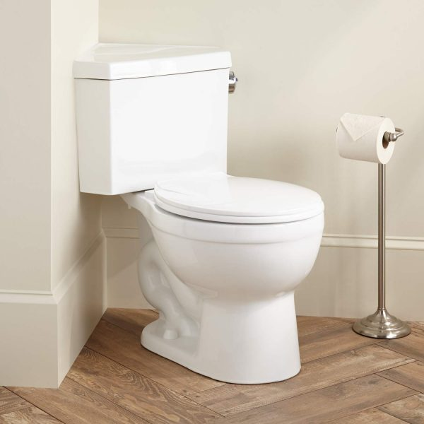 Fresh Barnum Dual Flush Corner Toilet With Seat Bathroom Medium