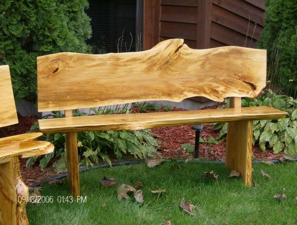 Fresh Bass Wood Slab Bench By John A Eiseleinartwantedcom Medium