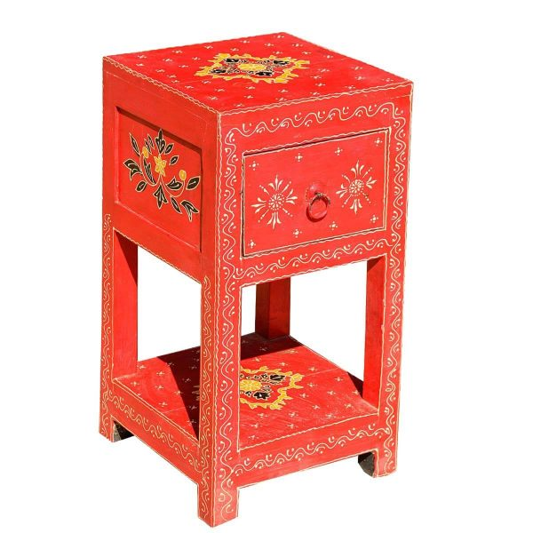 Fresh Benton Hand Painted Solid Wood 1 Drawer End Table Medium