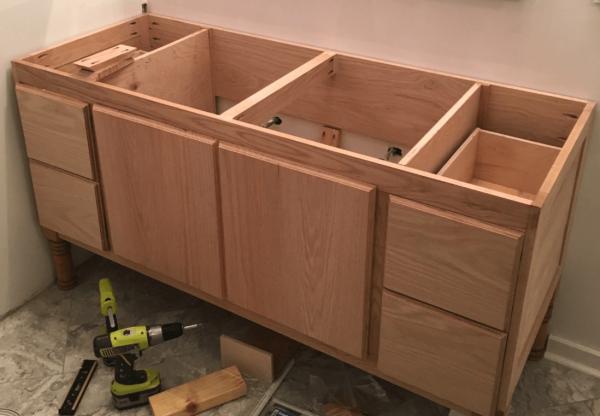 Fresh Building A Diy Bathroom Vanity Part 5 Making Cabinet Doors Medium
