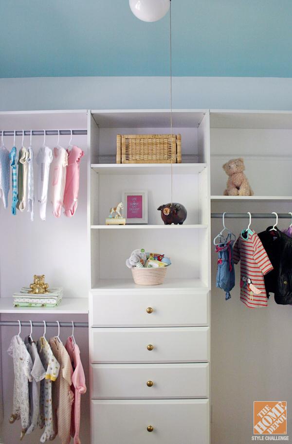 fresh closet organization ideas for a nursery the home depot