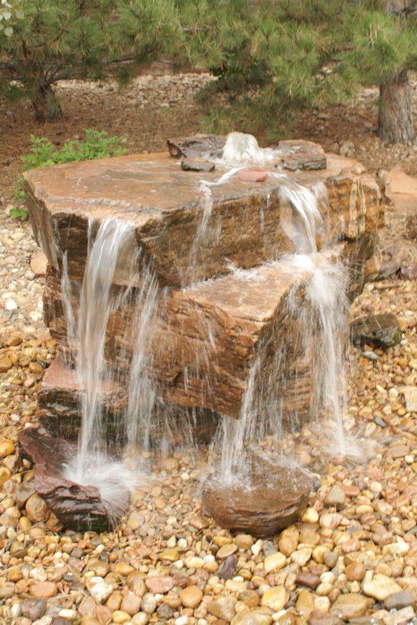 Fresh Core Drilled Sandstone Water Feature Pondlesswater Medium