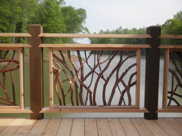 Fresh Custom Wood Railing Deck Railingmountain Laurel Medium