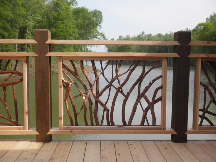 fresh custom wood railing deck railingmountain laurel
