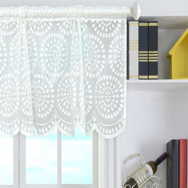 Fresh Elegant Floral Kitchen Curtains Valance Short Sheer Window Medium