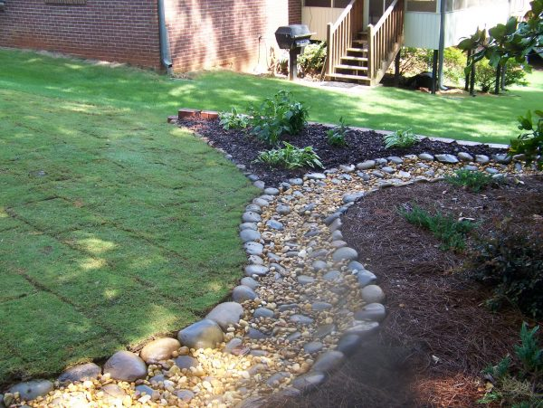 Fresh Enhacing Your Landscape River Rock Garden Pathinterior Medium