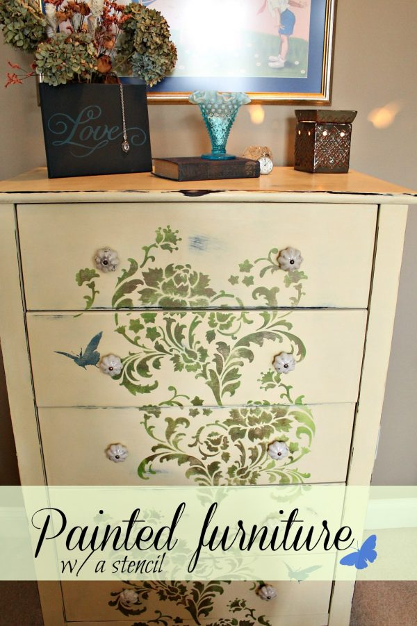 Fresh How To Stencil On Furniture Debbiedoos