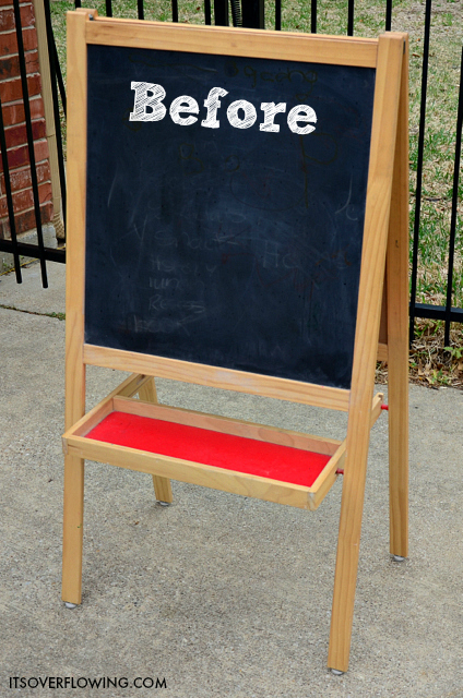 Fresh Ikea Hack Chalkboard Easel Its Overflowing Medium