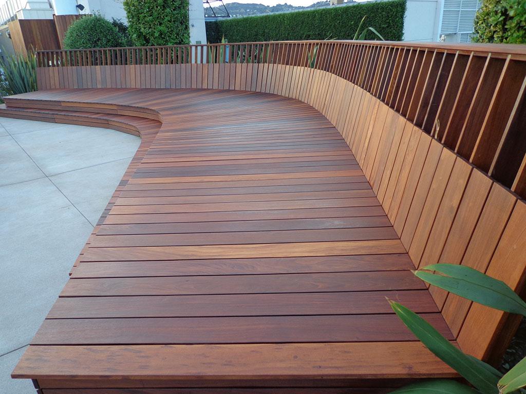 fresh ipe wood deck refinishing