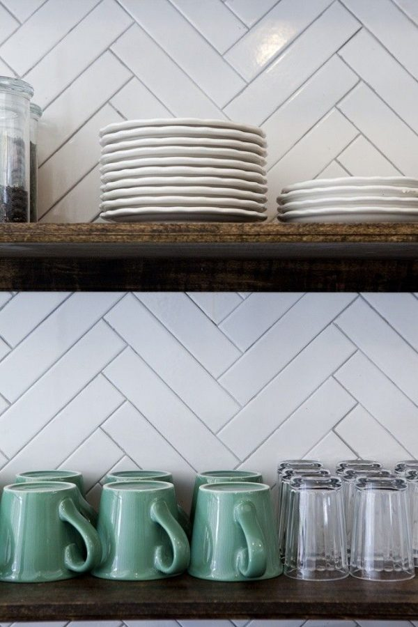 Fresh Kitchen Backsplashes Dazzle With Their Herringbone Designs Medium