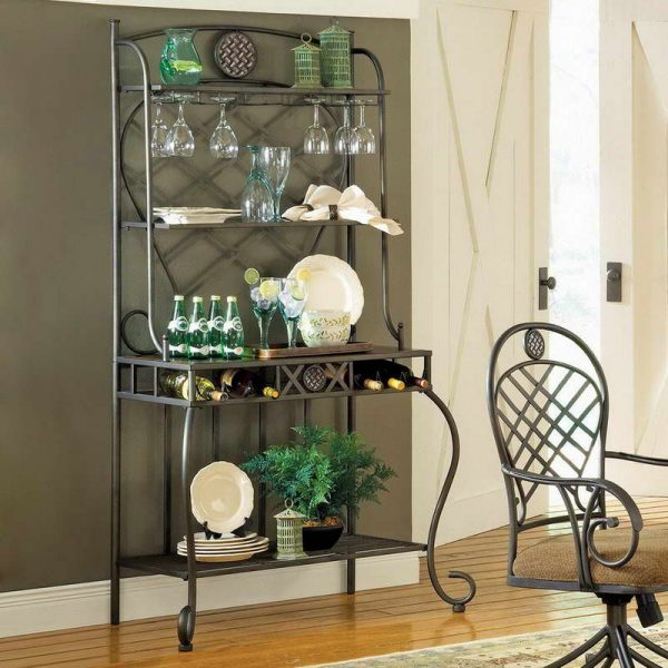 Fresh Kitchenquite Old Bakers Rack Decorating Ideas In Your Medium