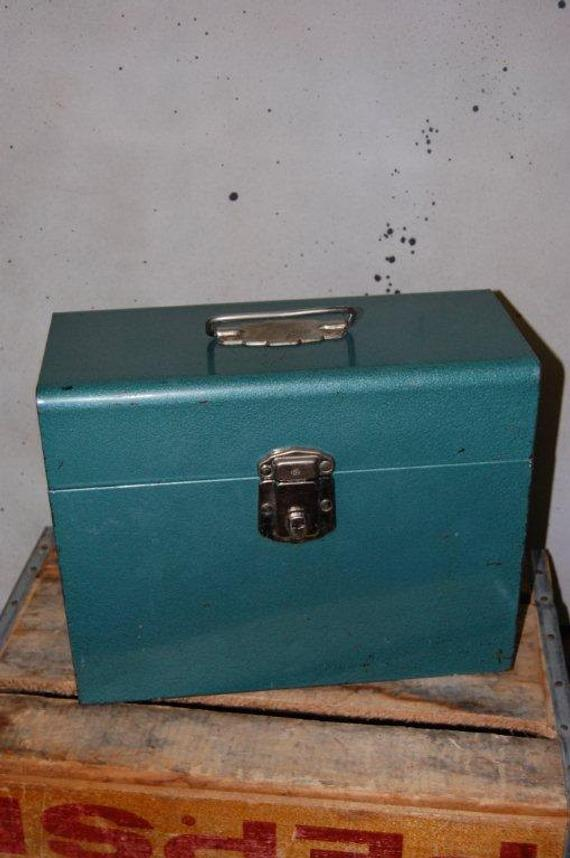 Fresh Metal Box Storage File Handle Vintage Medium