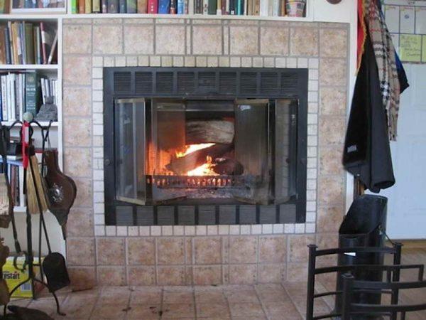 Fresh Prefab Woodburning Fireplace Bookshelve Design Medium