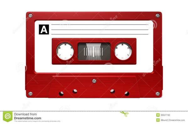 Fresh Red Audio Cassette Tape Stock Photography Image 36941192 Medium