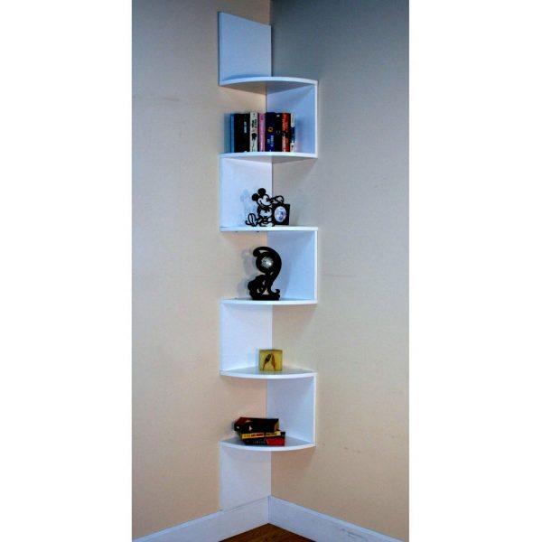 Fresh Tall Zig Zag Small Corner Shelving Unit