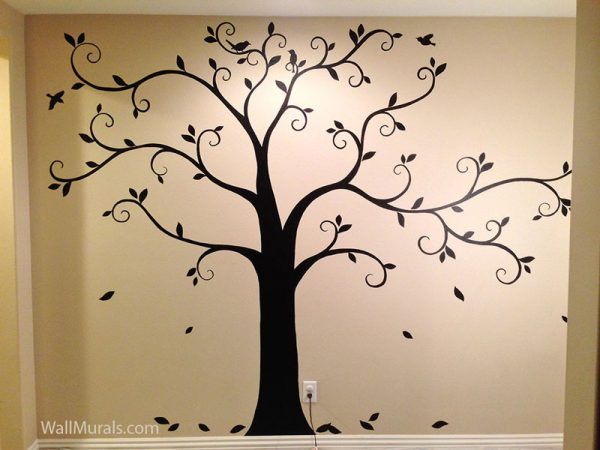 Fresh Tree Wall Murals 50 Handpainted Tree Wall Mural Examples Medium