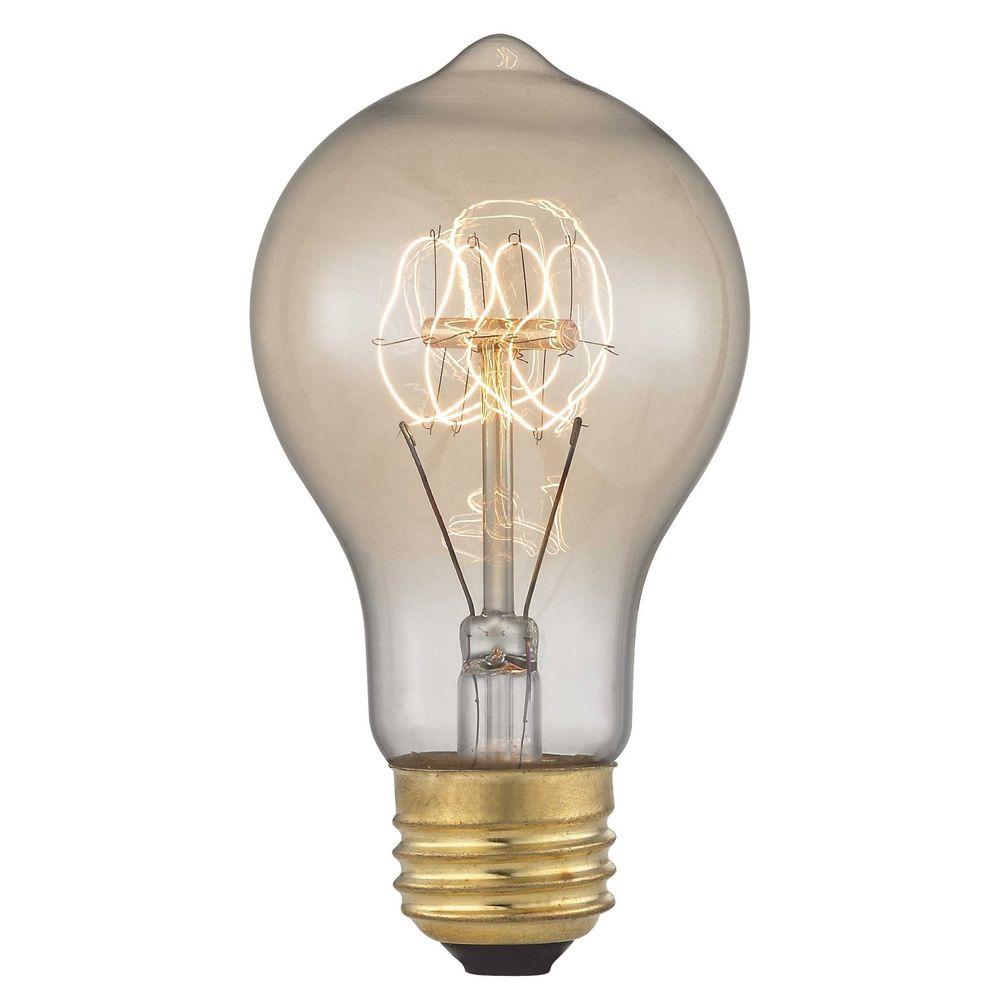 fresh vintage edison carbon filament light bulb 60watts