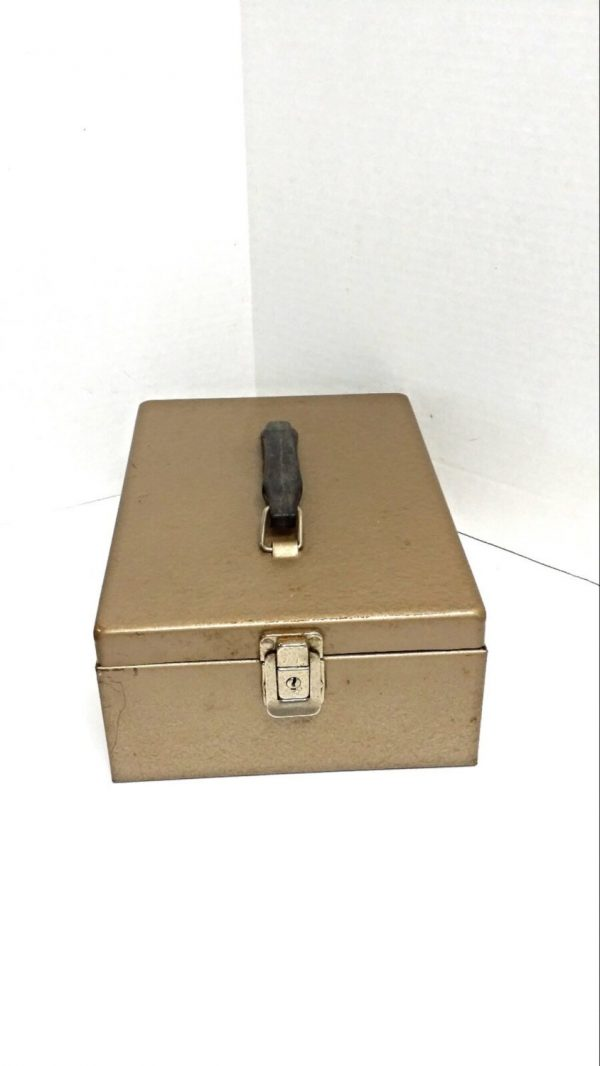 Fresh Vintage Metal Box Cash Box File Storage Lock Box Medium