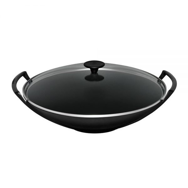 Fresh Wok With Glass Cover Le Creuset Household Medium