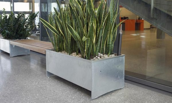 Galvanized Steel Planters Adastra Medium