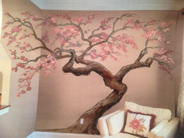 Get 2019 Latest Painted Trees Wall Artwall Art Ideas Medium
