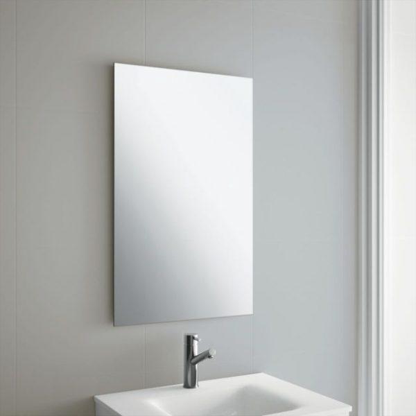 Get 50 X 70cm Frameless Rectangle Bathroom Mirror With Wall Medium