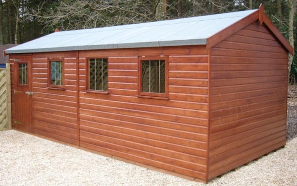 Get 8 X 12 Superior Shed With Pent Roof Plan Ref 1 Medium