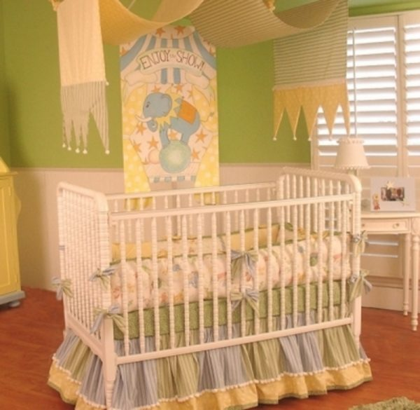 Get Beautiful Unisex Baby Crib Bedding For A Circus Nursery Medium