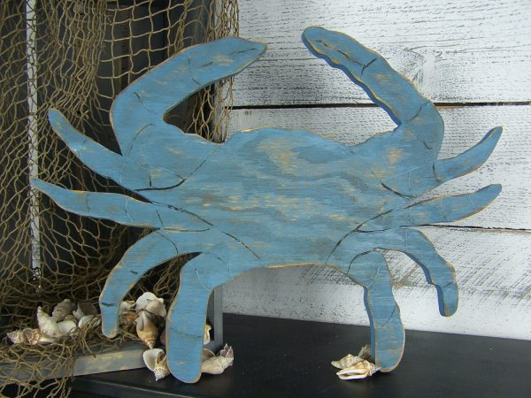 Get Blue Crab Decor Crab Sign Wooden Crab Wall Art Seafood Sign Medium