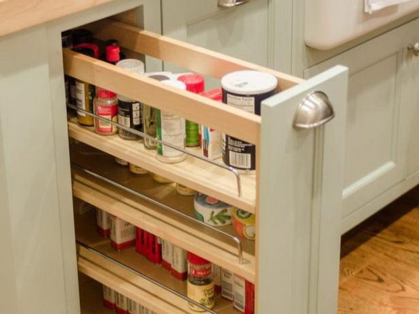 Get Cabinet   Shelvingcabinet Pull Out Spice Rack