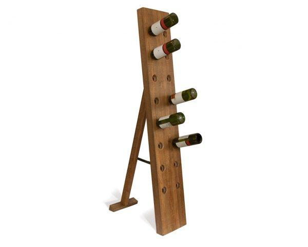 Get Contemporary Home Accessories Unique Mango Wood Wine Rack Medium