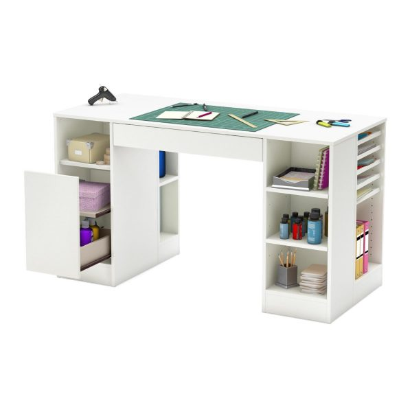 Get Creative Craft Table With Storage And Room Organization Medium