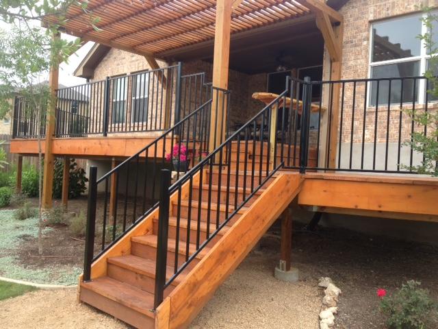 get custom metal fabrication deck railings planters gates
