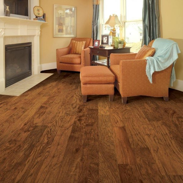 Get Distressed Brown Hickory Laminate Flooring Medium