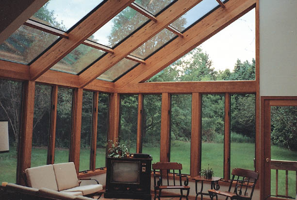 get four seasons system 8 sunroom straight eave glass roof