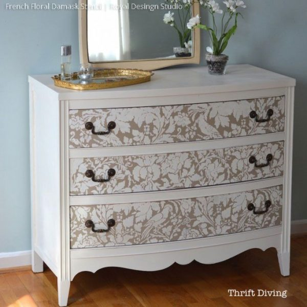 Get French Floral Damask Wall Stencildressers Medium