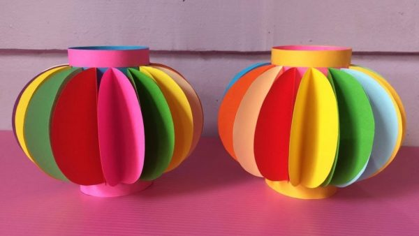 Get How To Make Lantern With Color Paper Diy Fancy Paper Medium