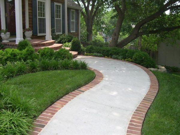 Get Image Result For Concrete Walkway Brick Edgelandscape Medium