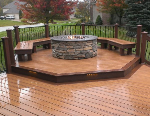 Get My First Trex Deck   Gas Fire Pit Decks   Fencing Medium
