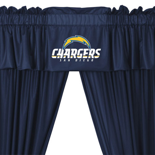 Get Nfl San Diego Chargers 5pc Jersey Drapes Curtains And Medium